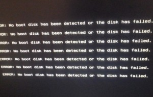 Как убрать ошибку: ERROR: No boot disk has been detected or the disk has failed.